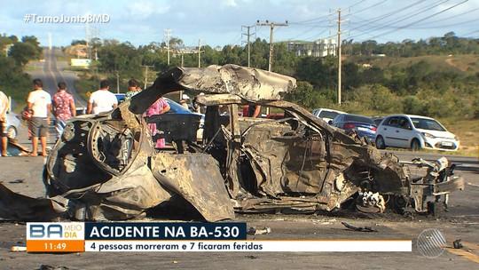 Quatro mortos em acidente na BA-530 eram da mesma família
