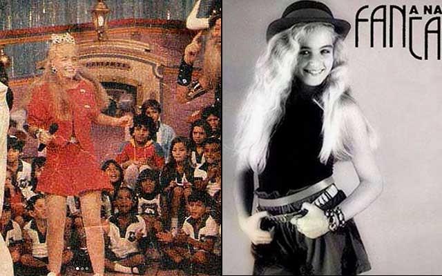 Angelica no início da carreira na tevê, apresentando programas infantis (Foto: Reprodução)