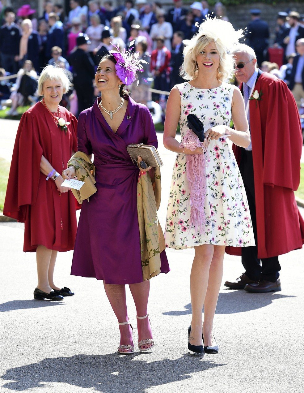 Joss Stone, cantora inglesa, chega ao casamento real de Príncipe Harry e Meghan Markle (Foto: Ian West/Pool via AP)