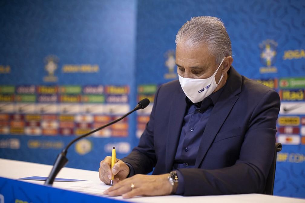 Tite convocará a seleção brasileira nesta sexta-feira — Foto: Lucas Figueiredo / CBF