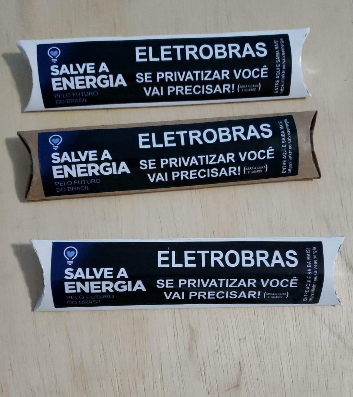 O protesto de funcionários da Eletrobras