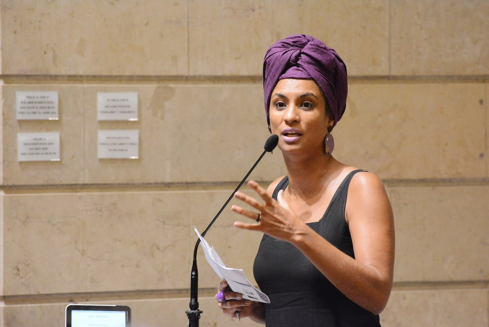 Marielle Franco durante sessão na Câmara do Rio em 2017 (Foto: Renan Olaz/Câmara do Rio)