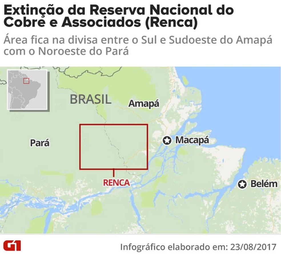 Reserva  Nacional do Cobre e Associados (Foto: Editoria de Arte/G1)