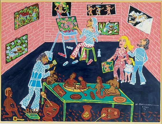 Ateliê da artista e família,1973 (Foto: Divulgação Masp)