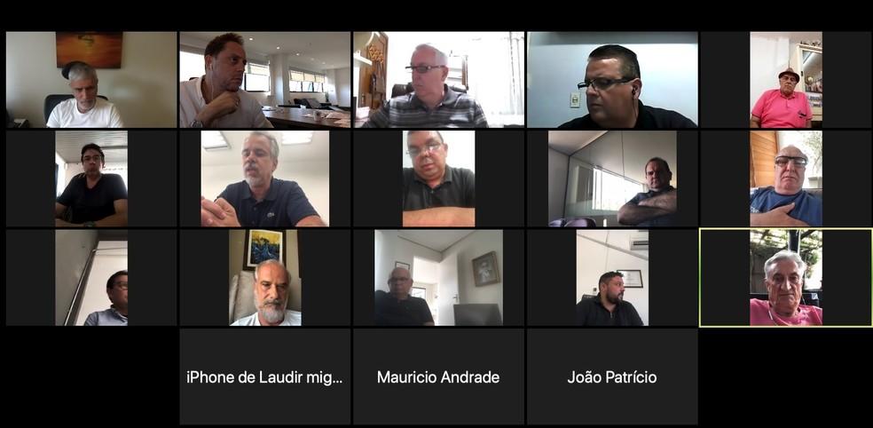 reunião videoconferência Gauchão FGF clubes — Foto: Divulgação / FGF