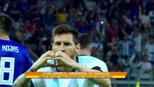 Argentina amarga empate contra o Paraguai, no Mineirão pela Copa América