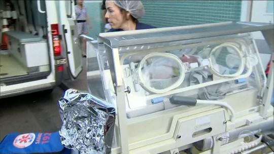Bebê que nasceu após mãe morrer baleada está em estado grave