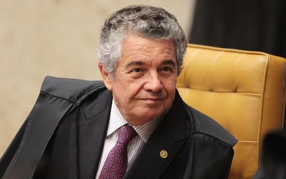 Ministro Marco Aurélio durante sessão do STF (Foto: Carlos Humberto/SCO/STF)