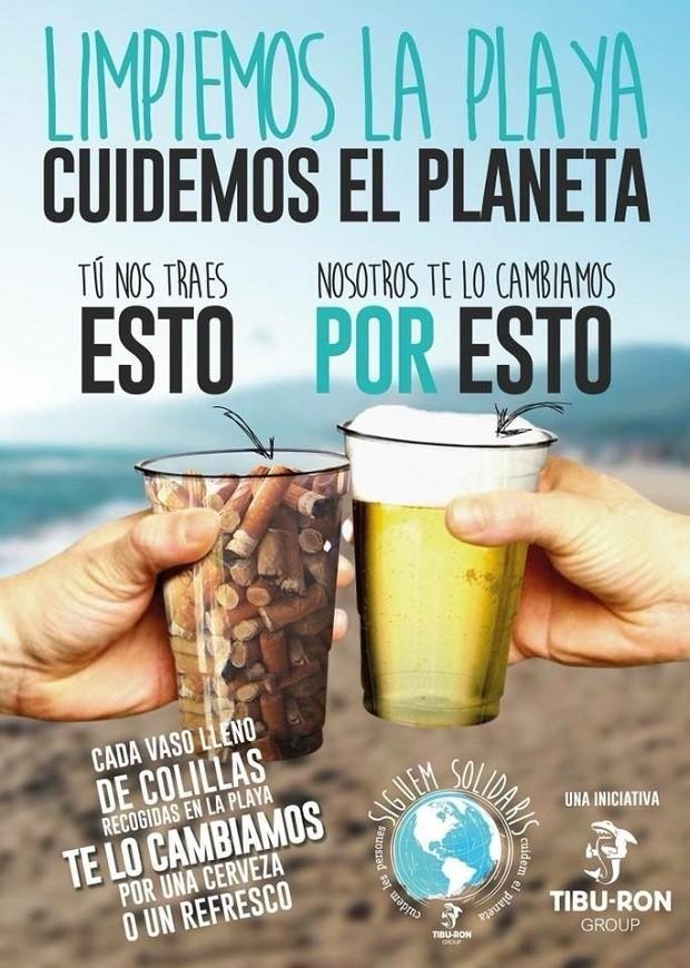 Promoção do Chiringuito Tibu-Ron, localizado na praia de Castelldefels (Foto: Reprodução)