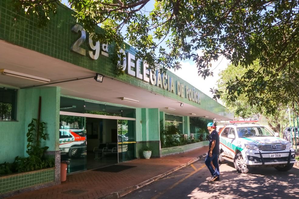 Fachada da 29ª DP, no Riacho Fundo — Foto: Vinicius de Melo/Agência Brasília