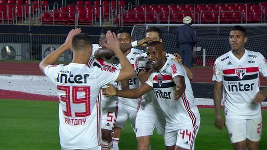 Antony, Toró, Raniel e Vitor Bueno: os gols de São Paulo 4 x 0 Chapecoense