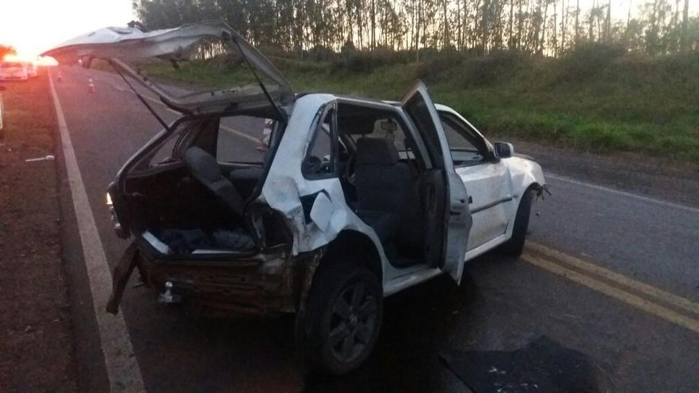 Acidente foi registrado na madrugada desta sexta-feira (1º), em Mirante do Paranapanema (Foto: Polícia Civil/Cedida)