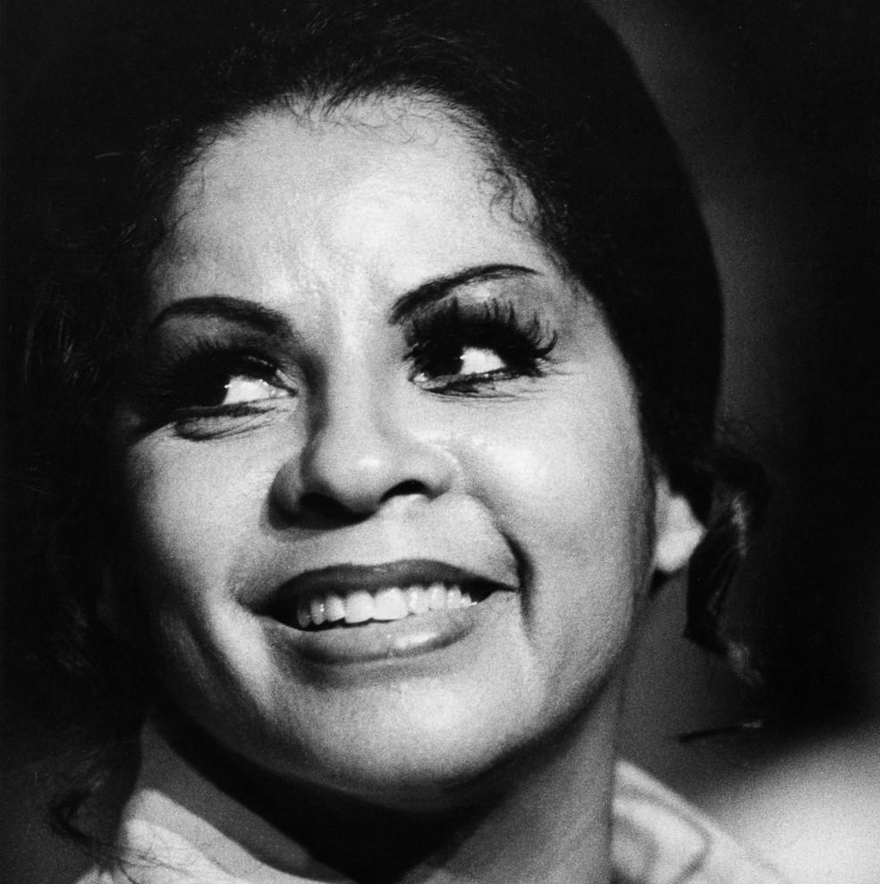 Cantora Angela Maria, em imagem de 19 de janeiro de 1977 — Foto: Arquivo/Estadão Conteúdo