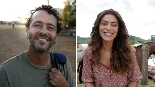 Juliana Paes e Marcos Palmeira celebram reencontro na nova novela das nove