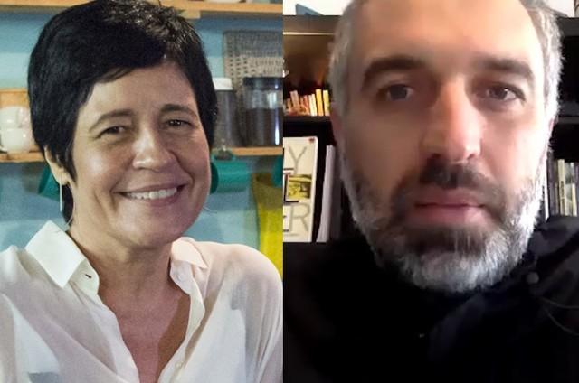 Thelma Guedes e Thiago Dottori (Foto: Globo e reprodução)