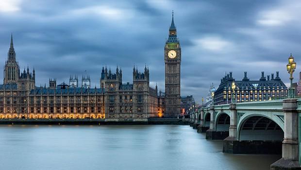 O Big Ben e o Parlamento britânico em Londres, Reino Unido (Foto: Shutterstock)
