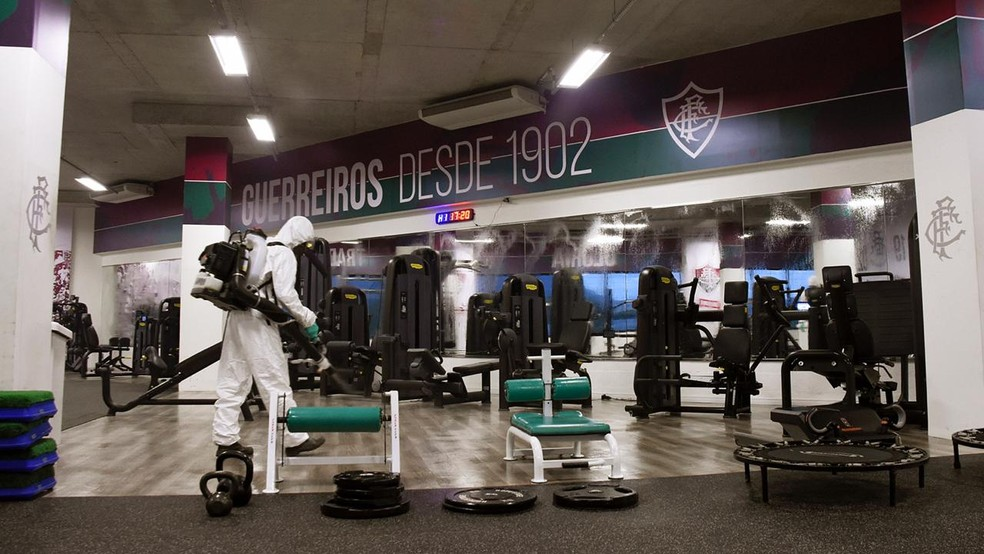 Clube terá que seguir protocolo de higienização nas áreas do CT — Foto: Divulgação / Fluminense