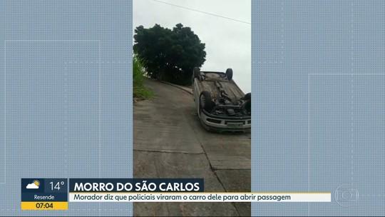 Morador diz que policiais viraram seu carro no Morro do São Carlos