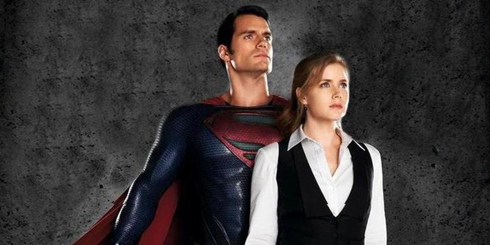 Henry Cavill e Amy Adams estão no filme  'O Homem de Aço' — Foto: Reprodução