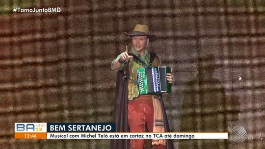 Michel Teló apresenta o espetáculo 'Bem Sertanejo' no TCA, em Salvador