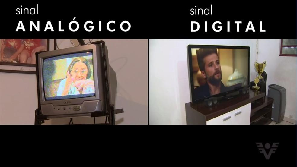 Resultado de imagem para sinal analogico digital tv
