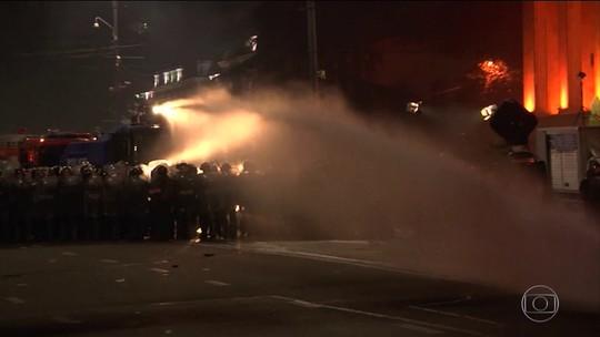 Protesto na Geórgia deixa 240 feridos