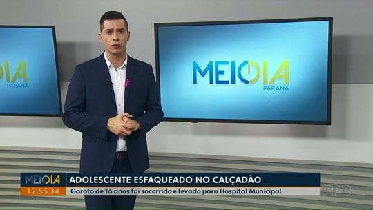 Adolescente é esfaqueado no calçadão de Ponta Grossa