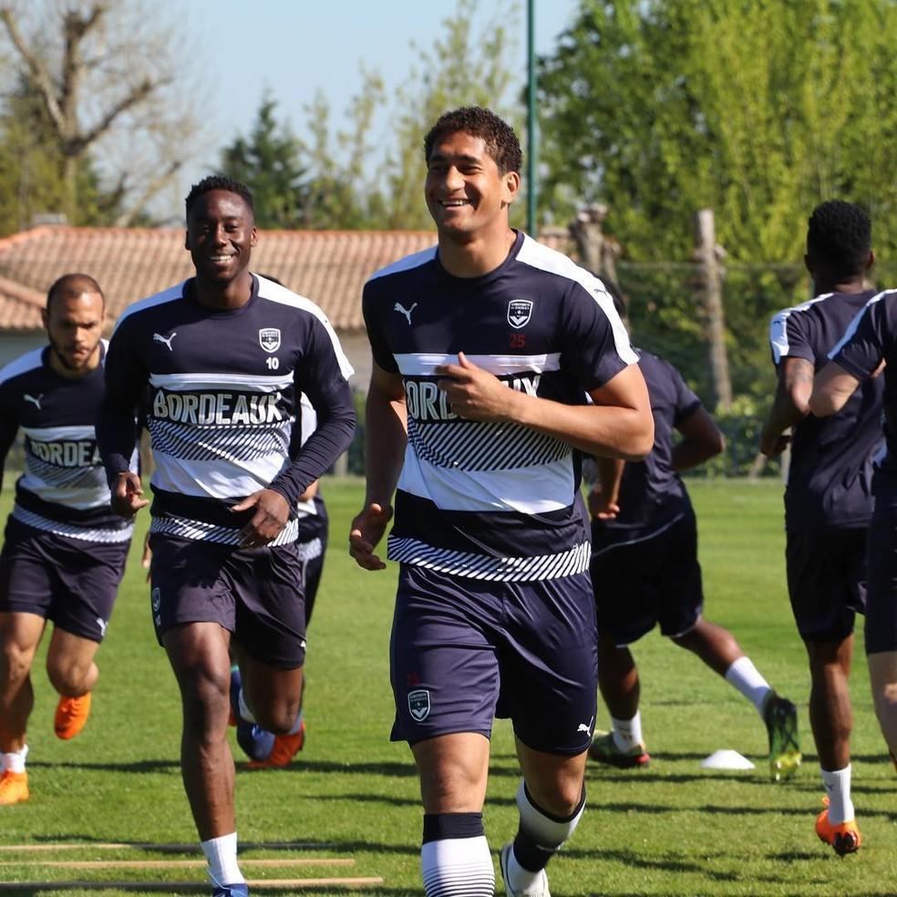 Pablo no treino do Bordeaux — Foto: Reprodução do Instagram