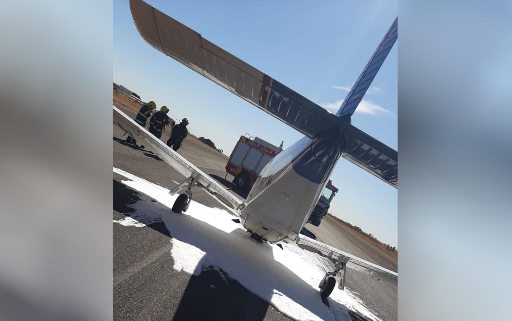 Avião faz pouso de emergência em aeroporto de Anápolis