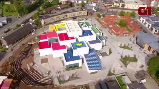 Lego inaugura casa que imita blocos gigantes na Dinamarca