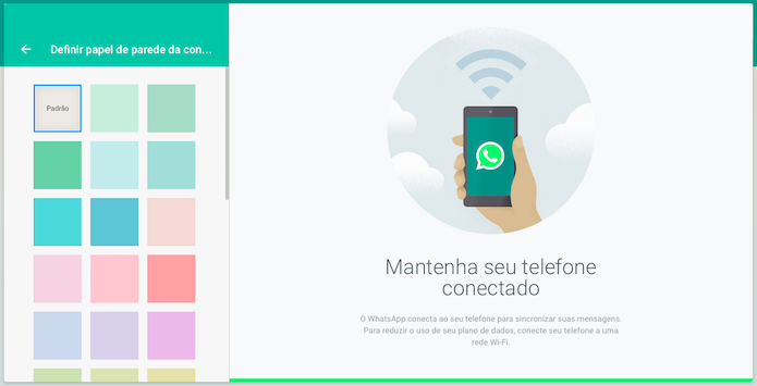 Trocando o papel de parede do WhatsApp Web (Foto: Reprodução/Helito Bijora)