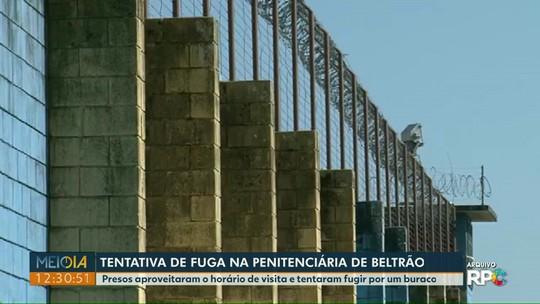 Presos tentaram fugir por um buraco na Penitenciária de Francisco Beltrão