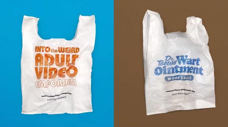 As sacolas criadas pelo mercado canadense (Foto: Divulgação)