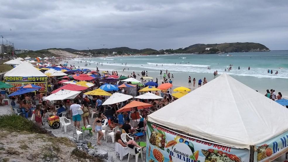 Cabo Frio, RJ, é um dos destinos mais procurados por turistas de Minas Gerais — Foto: Rodrigo Monteiro