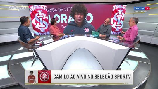 """Camilo comemora gol de falta no Inter, e Petkovic dá nota para a cobrança: """"9,9"""""""