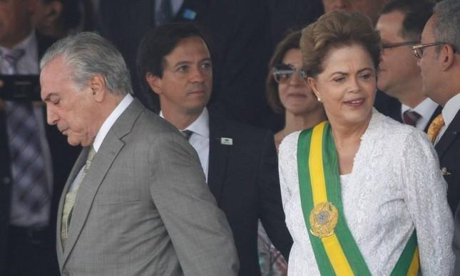 Temer e Dilma, na posse de 2011