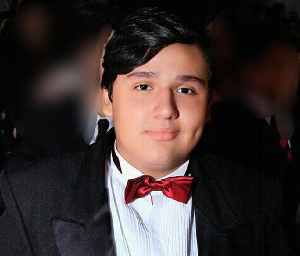O estudante Hernandes Montaño Silva morreu vítima do acidente — Foto: Cedida