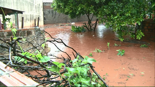 Chuva causa diversos estragos e alagamentos no noroeste do Paraná