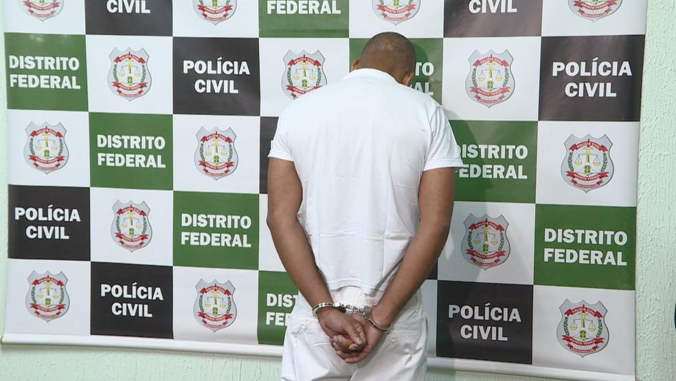 Josias Nascimento dos Santos, de 40 anos, preso por matar a ex-mulher — Foto: Reprodução/TV Globo