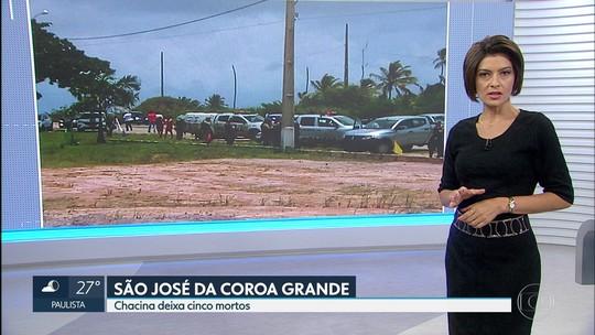 Polícia suspeita que grupo de Barreiros tenha cometido chacina na Mata Sul de PE