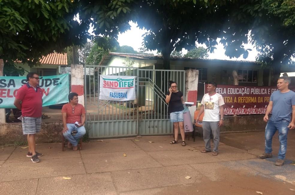 ALTAMIRA, 9H50: Campus da UFPA em Altamira fica fechado nesta quinta-feira.  — Foto: Reprodução/ TV Liberal