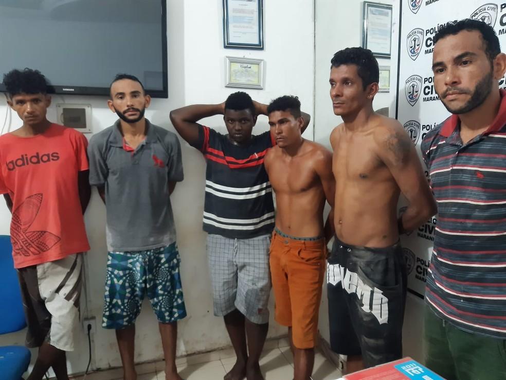 Quadrilha foi presa por suspeita de praticar roubo em fábrica de cerâmica em Itapecuru-Mirim (MA) — Foto: Divulgação/Polícia Civil