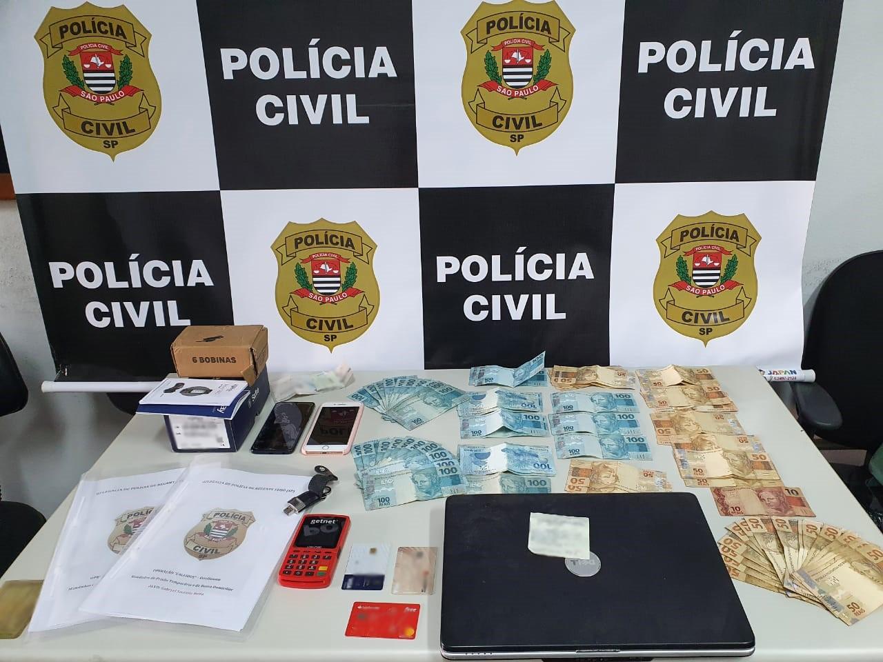 Polícia Civil desarticula associação criminosa que aplicava golpes contra correntistas no Oeste Paulista