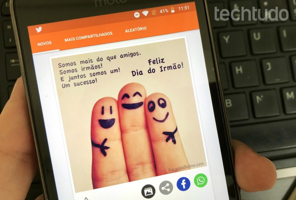 Mensagem De Dia Do Irmão Para Whatsapp Veja Apps Com Frases