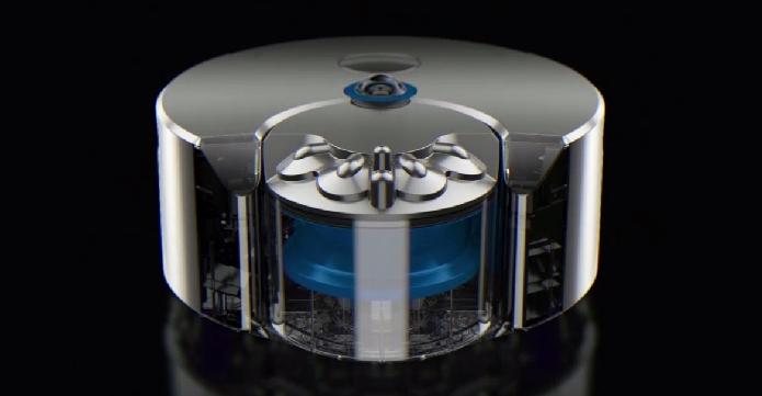 Novo robô aspirador de pó tem câmeras que lhe dão visão em 360 graus do ambiente (Foto: Reprodução/Dyson)