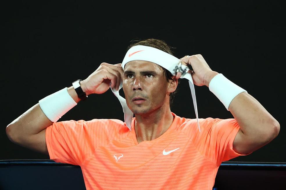 Rafael Nadal nas quartas de final do Australian Open — Foto: Cameron Spencer /Getty Images