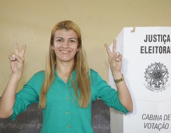 Dilcilene Guimarães de Melo Oliveira foi eleita prefeita de Boa Vista do Gurupi com 1.972 votos. (Foto: De Jesus/O Estado)