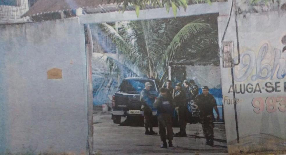 Capitão chegava a sítio quando foi alvejado por criminosos.  — Foto: Eleivaldo Pamplona/ Amazônia Jornal