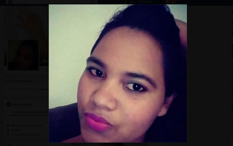 Moanne Santana foi encontrada morta e enterrada no quintal de casa, na Bahia (Foto: Reprodução/Facebook)