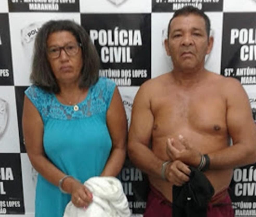 Além de Francisco Martins Santana também foi presa a sua companheira identificada como Maria da Conceição Costa Lima — Foto: Divulgação/Polícia